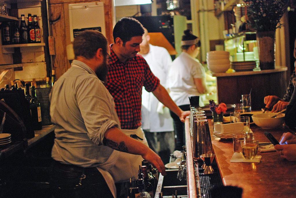 The bar at Vinegar Hill House