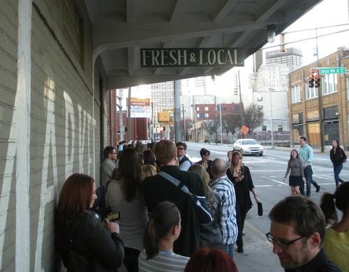 Line-up at Sweet Auburn for the Atlanta Underground Market.