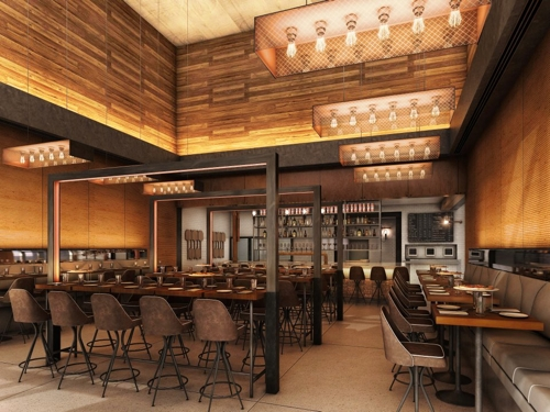 The dining room at Cucina Asellina.
