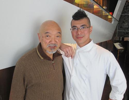 """Takumi """"Tak"""" Matsuba (left), and chef Michael Hung."""