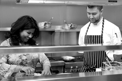 Chefs Asha Gomez and Andres Fernandez at Cardamom Hill. <br>