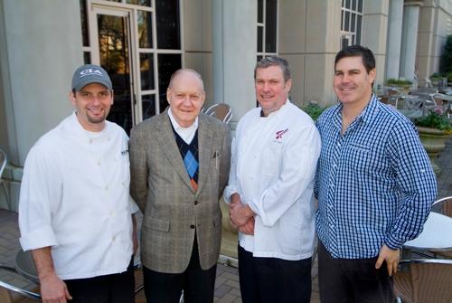 L-R: Chef Todd Mussman, Allen Jones, Chef Jay Swift, Ryan Turner.<br>