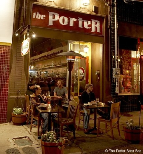 Patio entrance at The Porter Beer Bar