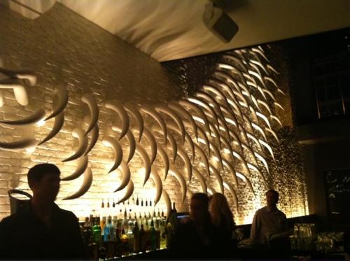 The bar at STK Atlanta.