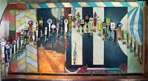 The Tap Wall at Hopfields.