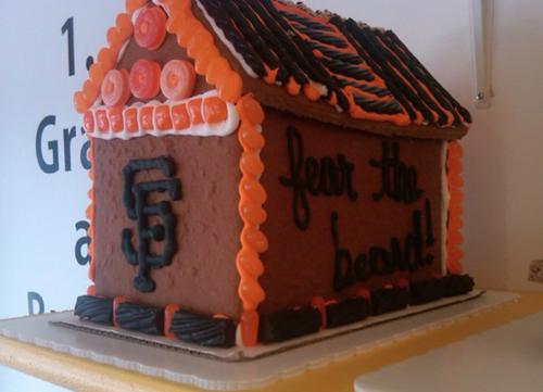 When a Giants' fan visits Gingerbread Builders on Union St...