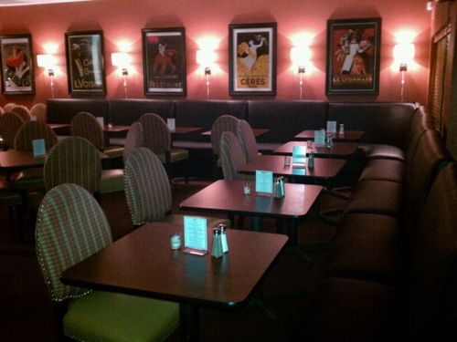 The dining room at the Munch Factory.