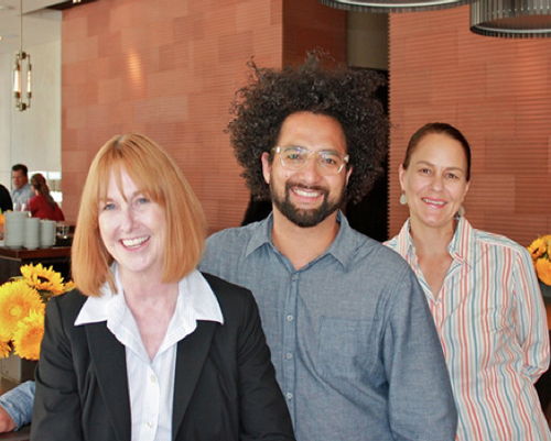 From left: Prospect partner Kathy King, former executive chef Ravi Kapur, and current executive chef Pam Mazzola.