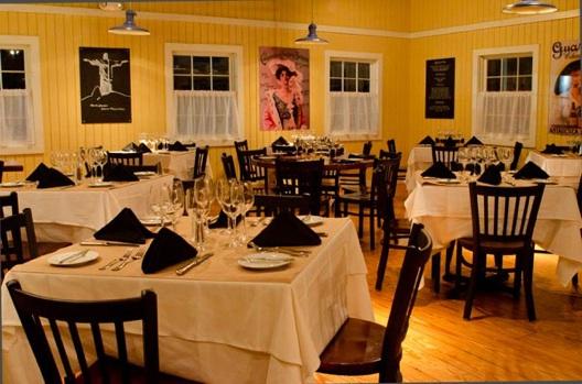 The dining room at Botekim Brazilian Bistro.