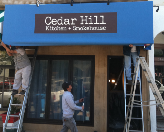 Cedar Hill's awning is now up for the ogling.