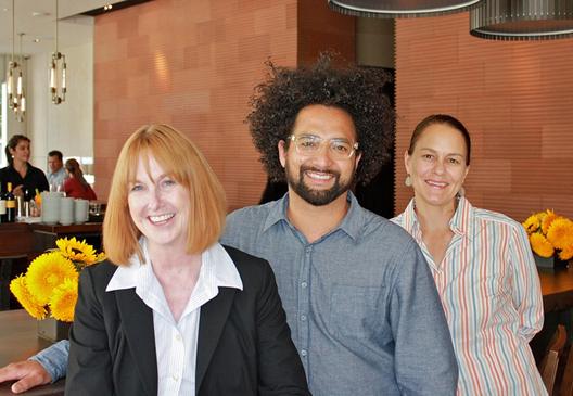 From left: Kathy King, Ravi Kapur, Pam Mazzola.