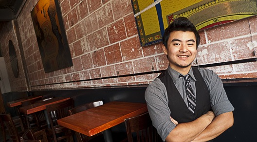 Yao Lu inside Anvil Bar & Refuge.