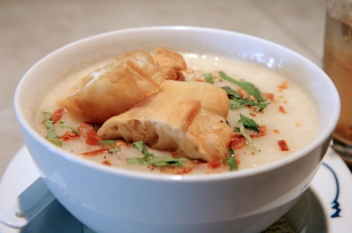 """Chicken jook from Out the Door by <a href=""""http://www.flickr.com/photos/amlamster/6356402471/in/pool-520531@N21"""">Alexis Lamster</a>."""