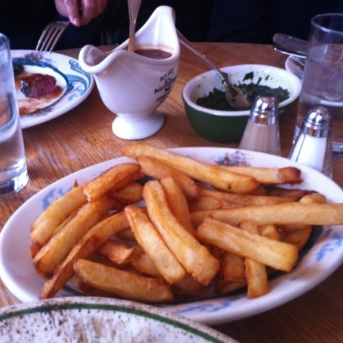 """Peter Luger fries (<a href=""""http://www.foodspotting.com/reviews/243077"""" rel=""""nofollow"""">Foodspotting</a>)"""