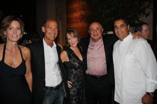 Michael Mina (right) and friends