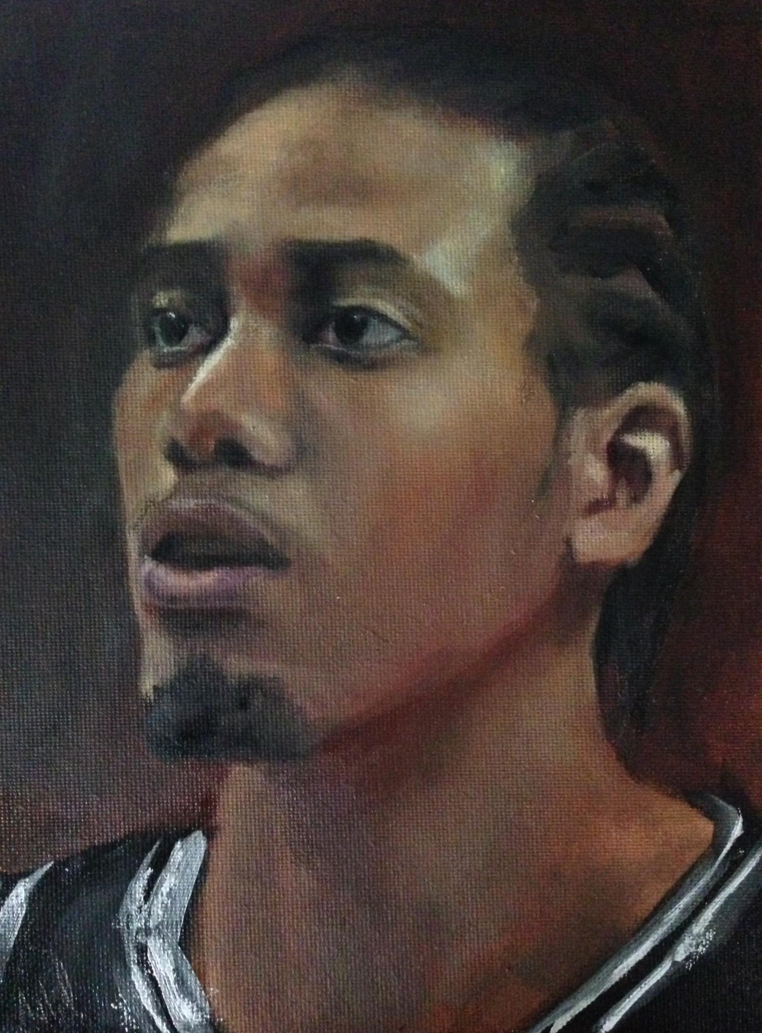 Kawhi Leonard - oil on canvas