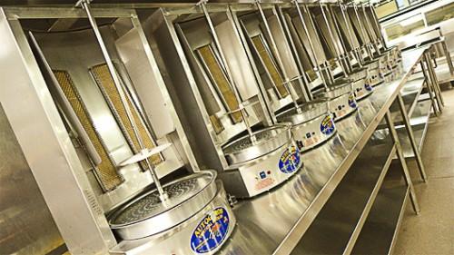 """Shawarma machines in a pretty little row. [<a href=""""http://www.flickr.com/photos/garyrwise"""">Gary R Wise</a>]"""