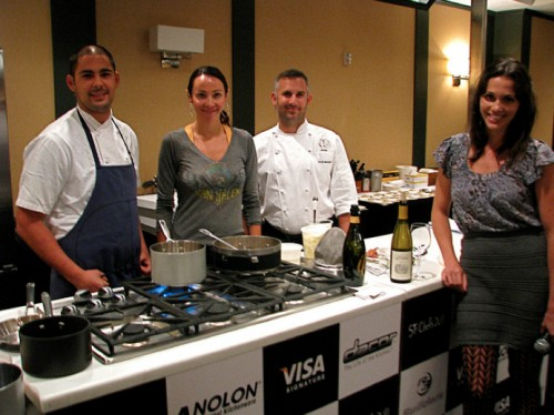 From left: Aziza's Louis Maldonado, Marisa Churchill, Fifth Floor's David Bazirgan and Aida Mollenkamp