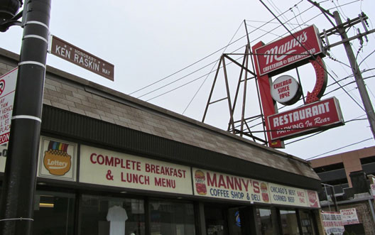 Manny's Deli's Ken Raskin Way