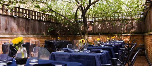 The patio at Boka
