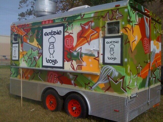 The Eatsie Boys' colorful trailer.