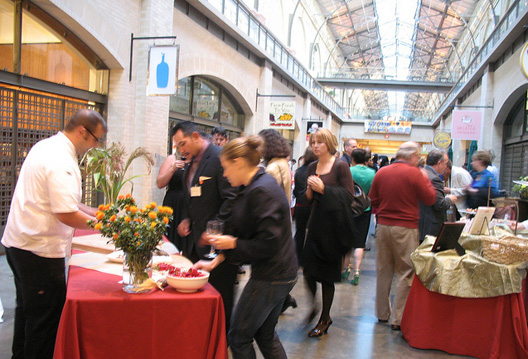 A scene from a past Sunday Supper Reception, similar in feel to this year's new Summer Celebration.