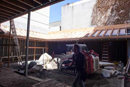 Soon-to-be courtyard at Momiji