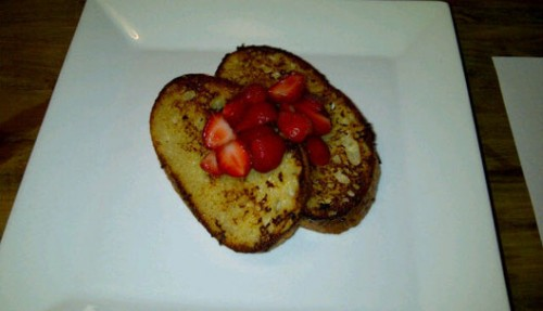 Vie French toast with Klug Farm strawberries