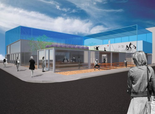 Rendering of the future Smitten Ice Cream @ The Proxy Project