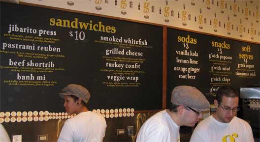 The Grahamwich sandwich board