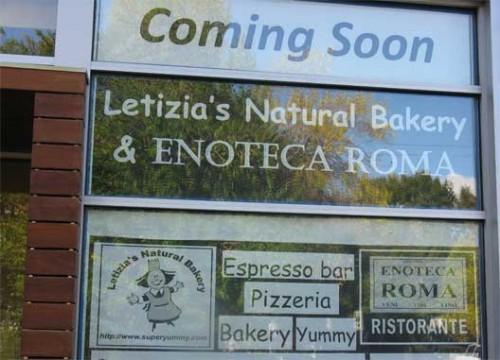 Letizia's: Coming Soon!