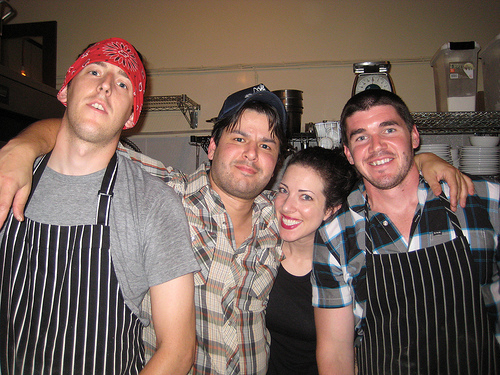 """Image of Micah Camden (second from left) and Fats crew courtesy <a href=""""link""""></a><a href=""""http://www.byronbeck.com/home/596-workin-the-strip-ne-30th-a-killingsworth-st-block-party-.html"""">Byronbeck.com</a>"""