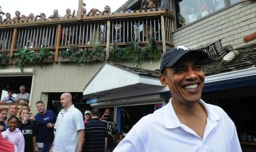 Barack Obama at Nancy's.
