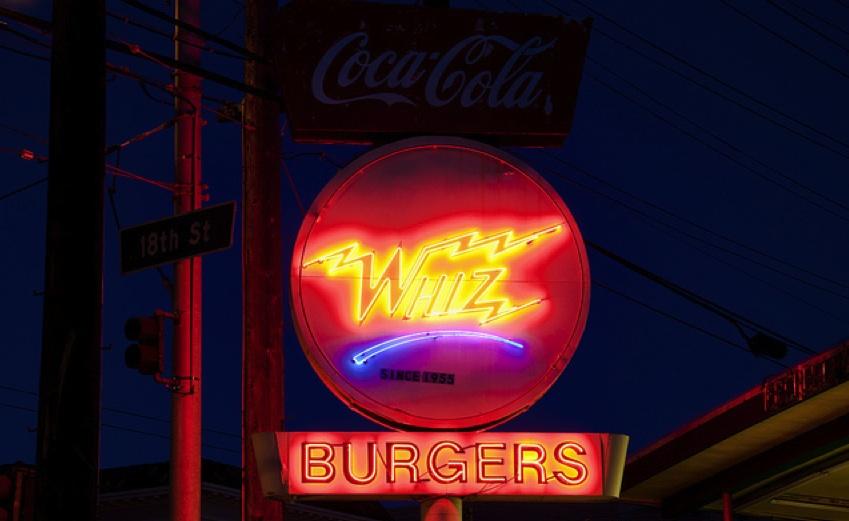 Whiz Burgers Drive-In.