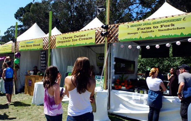 Some stalls last year at Outside Lands' A Taste of the Bay Area