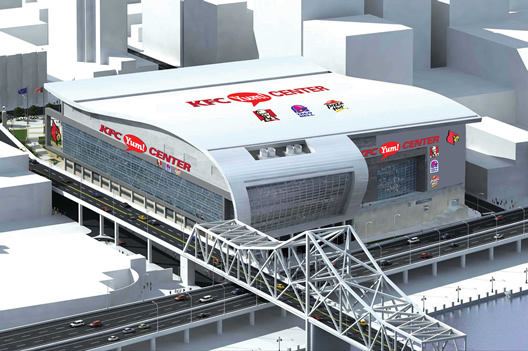 An artist's rendering of the new stadium