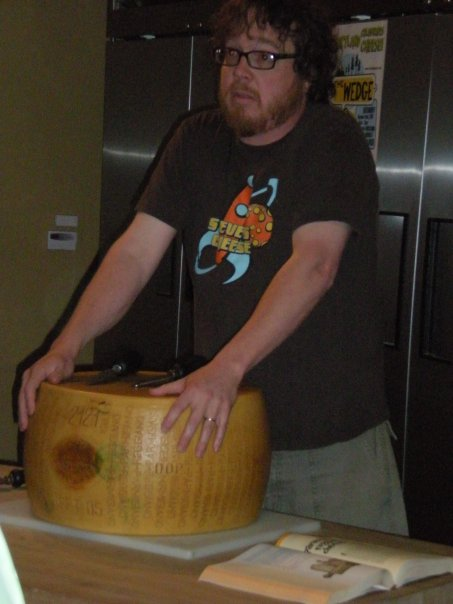 """Image of Steve Jones, with cheese, courtesy <a href=""""http://myllisa.com/2009/11/"""">Mylissa Patterson</a>"""