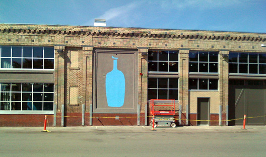 A really big blue bottle appears at BB's upcoming Oakland HQ.