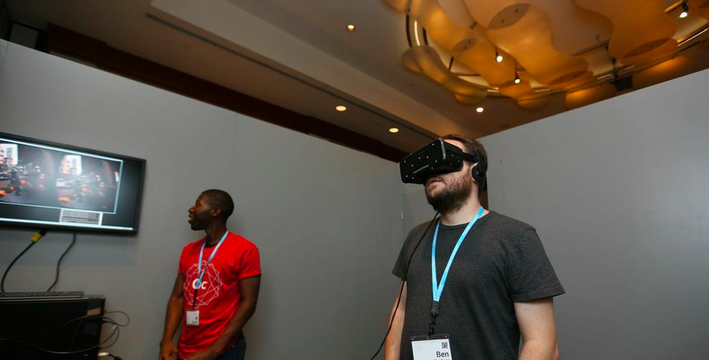 This is the final prototype of the retail Oculus Rift, and we've played it