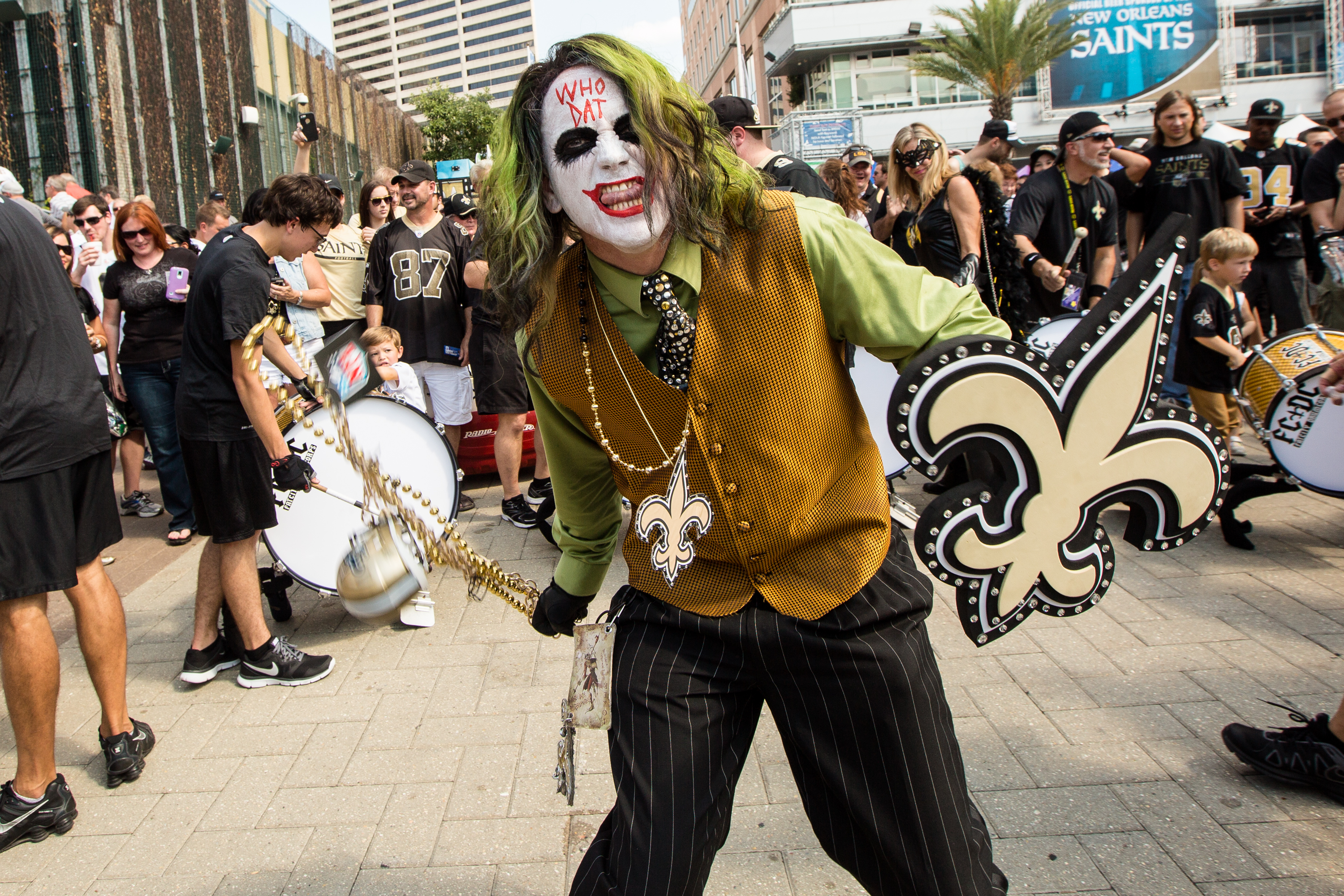 Who Dat Joker at Champions Square
