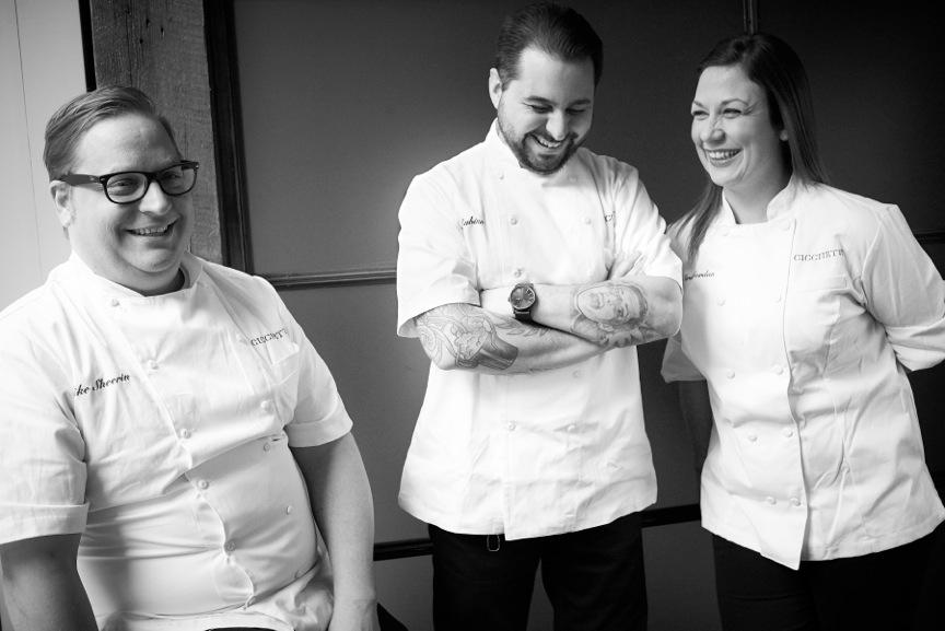 Mike Sheerin, Phil Rubino and Sarah Jordan when Cicchetti opened