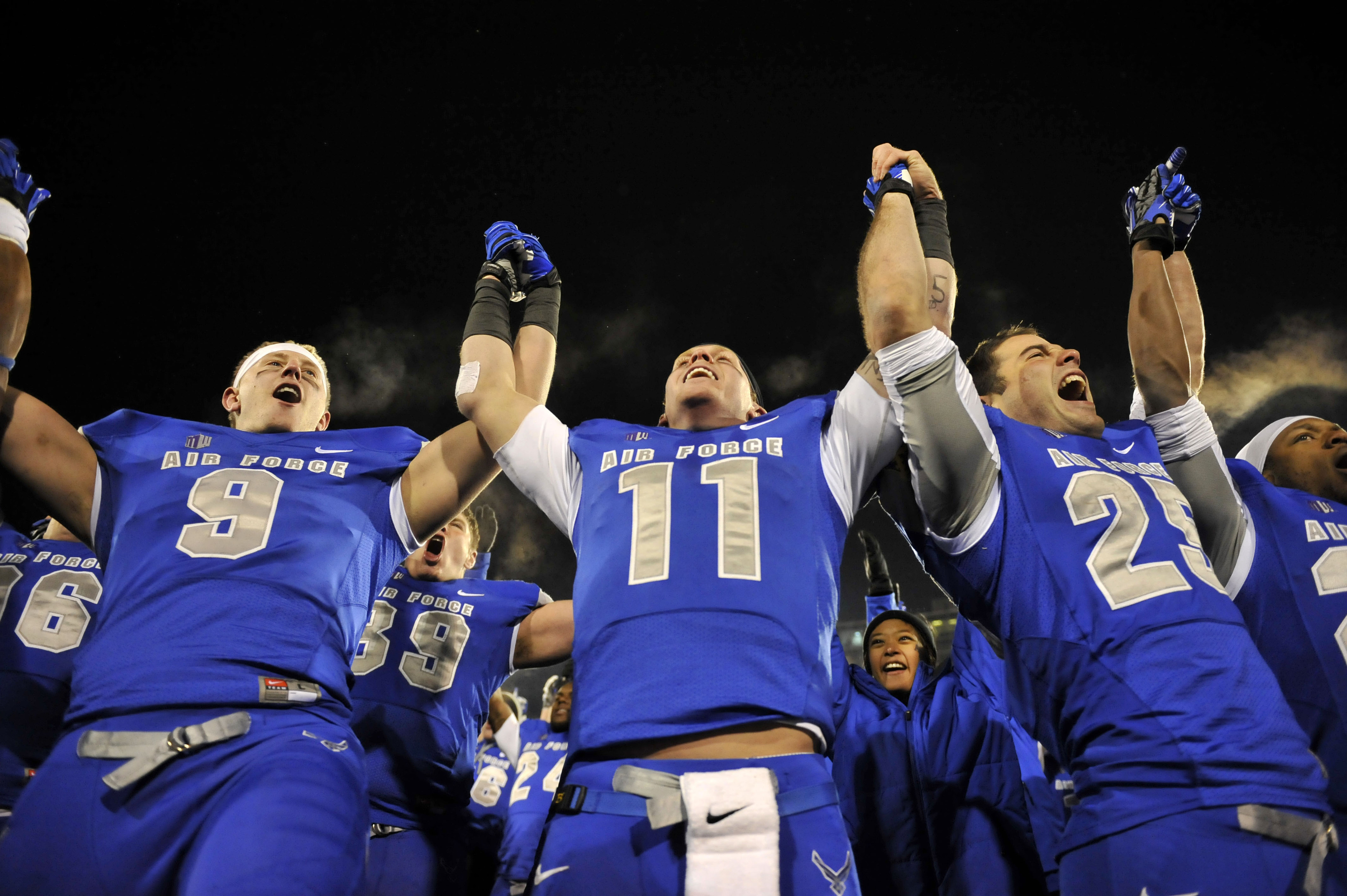 The Air Force Falcons await the naming of their Armed Forces Bowl opponent