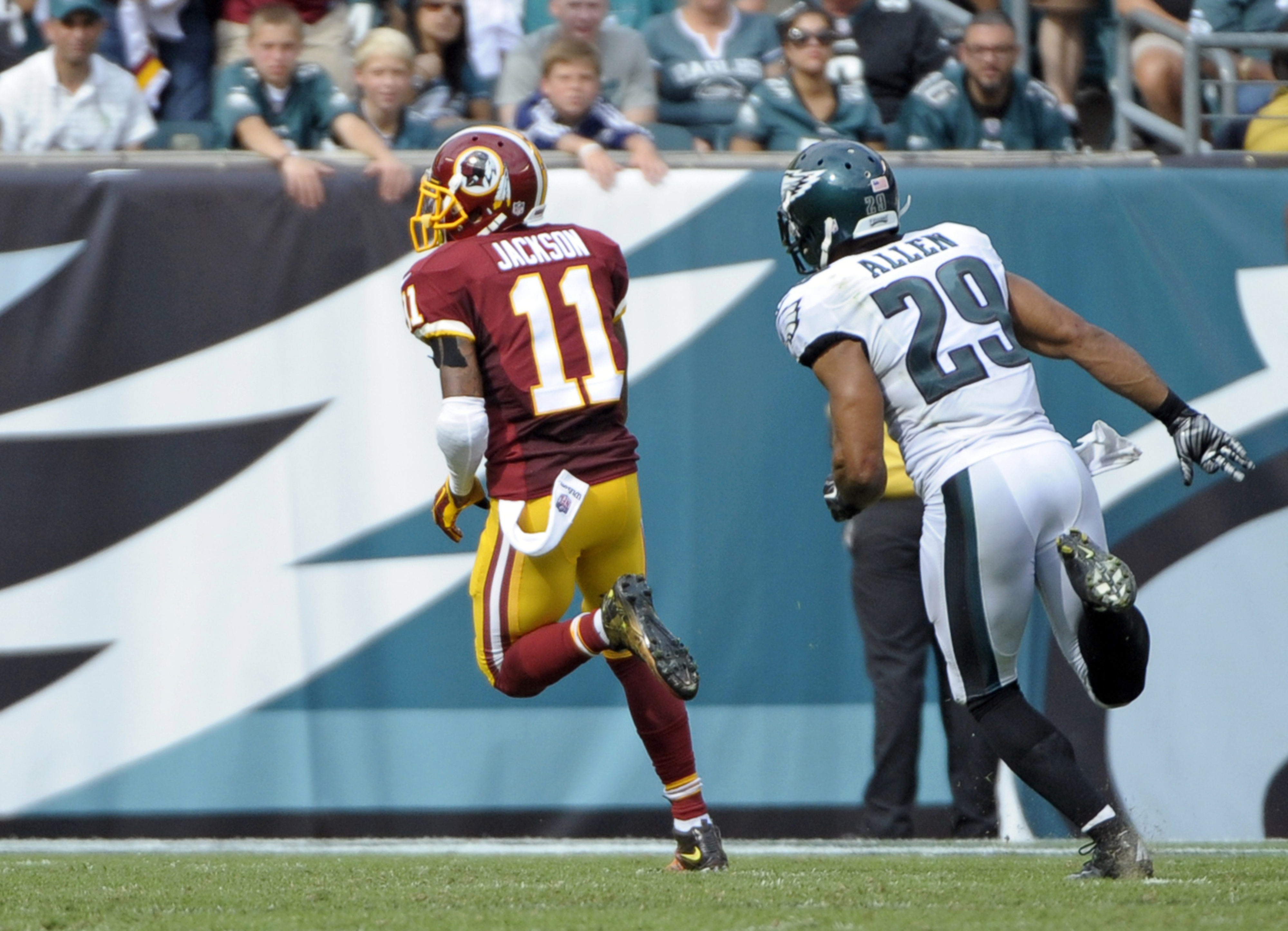 The Giants don't want to see DeSean Jackson running free like this on Thursday