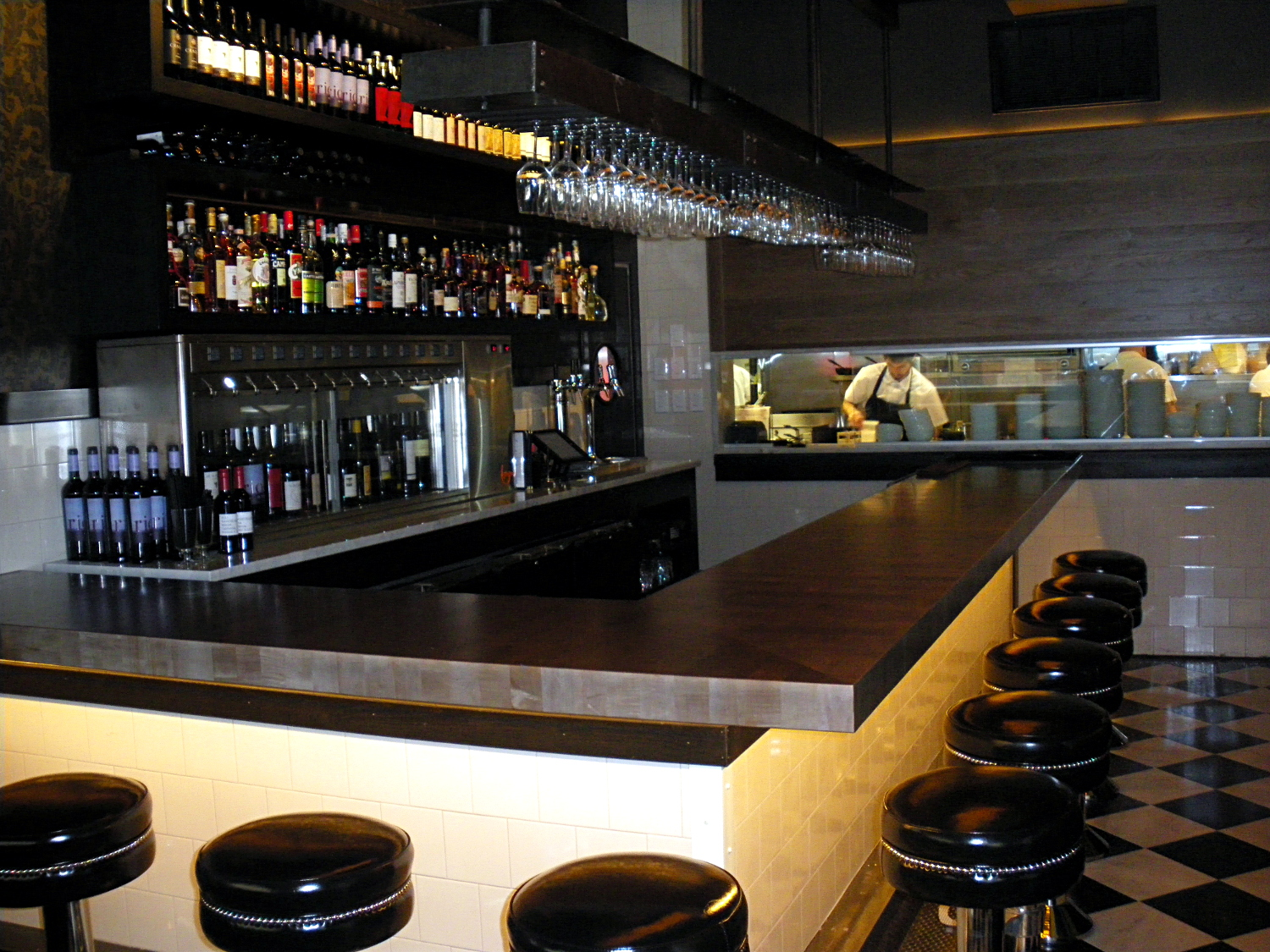 The bar at Abe Fisher: now a post-work destination.