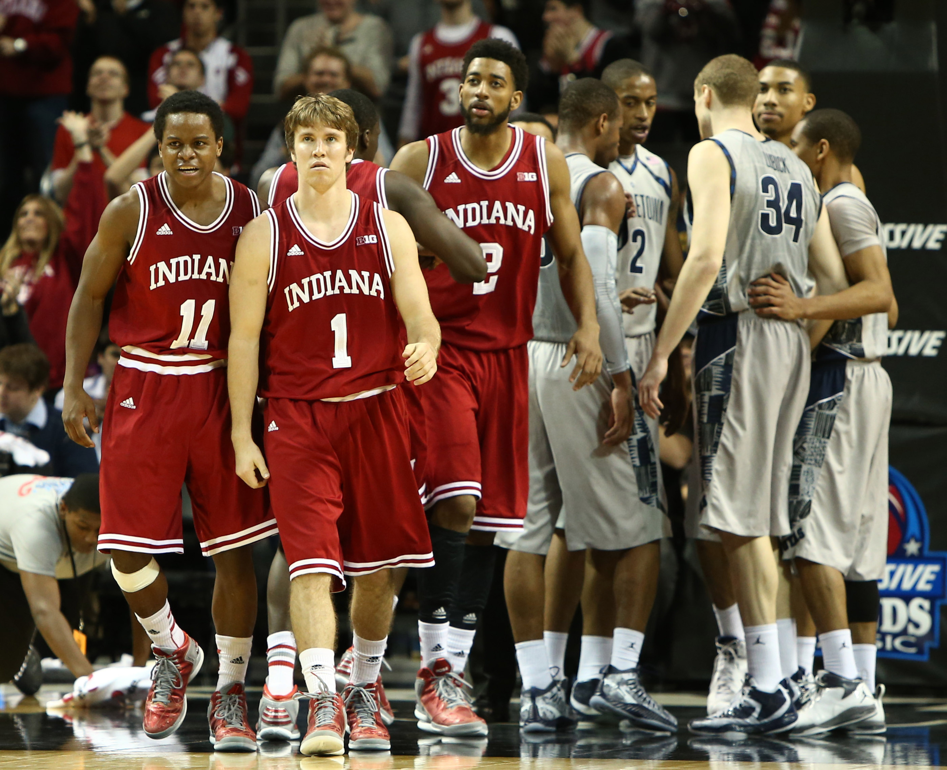The top-ranked Hoosiers battle North Carolina in Tuesday's main event.