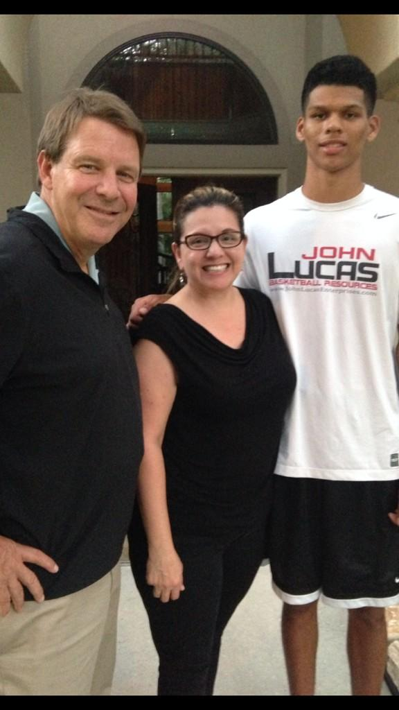Paul Thomas with Coach Floyd, and his mother