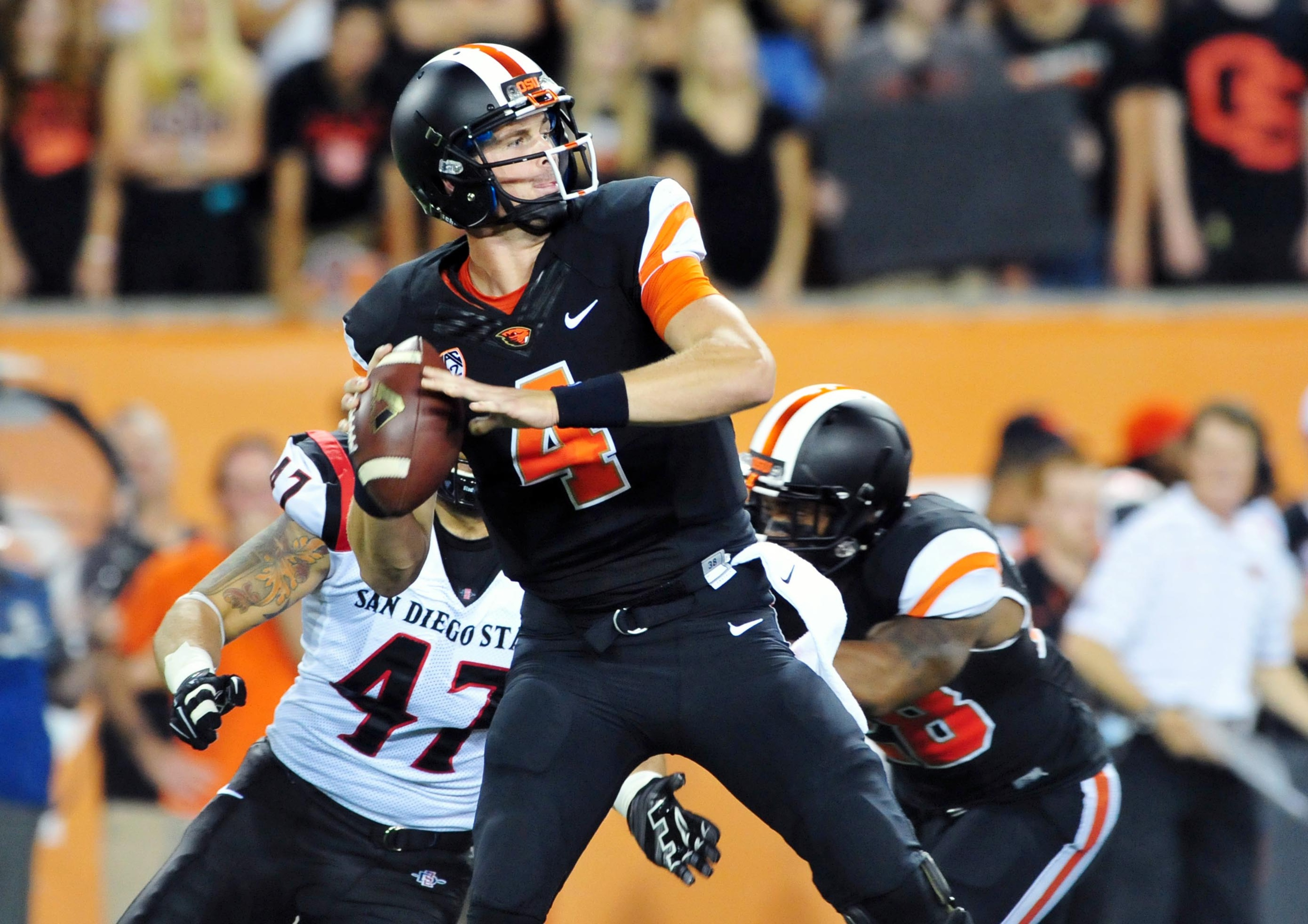 Oregon State quarterback Sean Mannion gets a chance to climb closer to the conference passing record against USC this weekend.