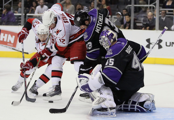 Skinner and Staal are going to have a tough time in front of the net this year - Photo Credit