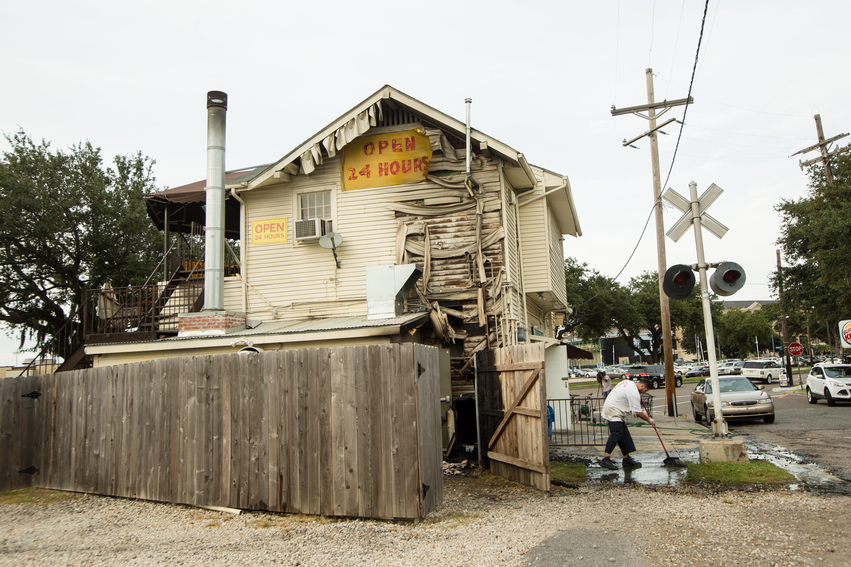 Damage to Bud's Broiler