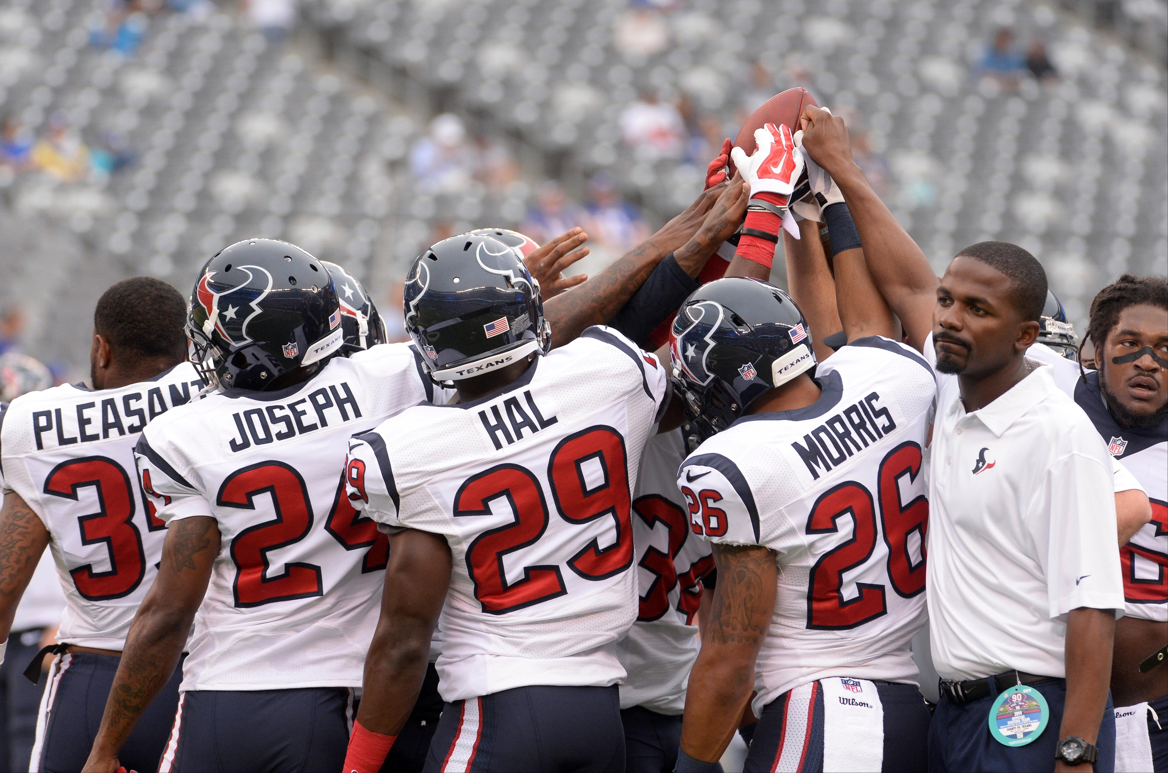 The success of the Texans' secondary will be primary to the team winning today.